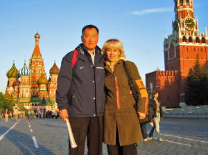 David and Marina met in Moscow